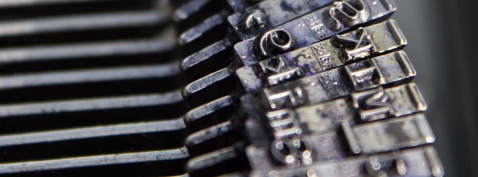 Detailbild Buchstaben einer Schreibmaschine