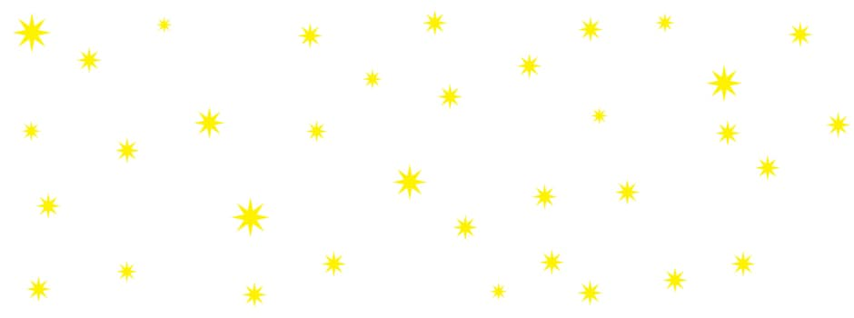 Gelbe Sterne auf Weiß