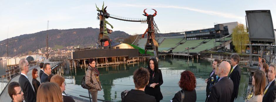 Besuch auf der Seebühne in Bregenz
