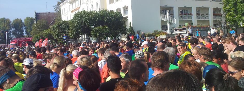 Teilnehmer beim 3-Länder-Marathon
