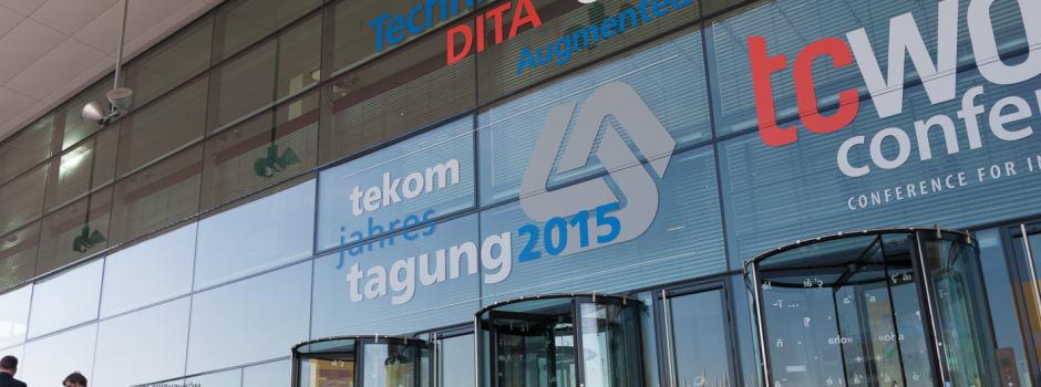 Eingang der tekom Jahrestagung 2015