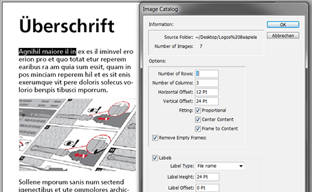 Bild Skripte in Indesign Image Catalog