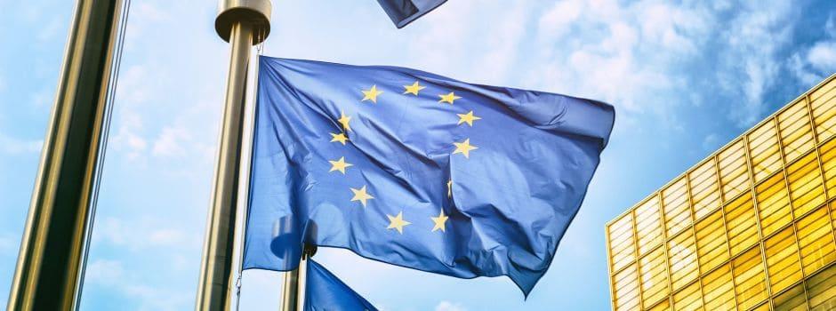 Wehende Europa-Flagge