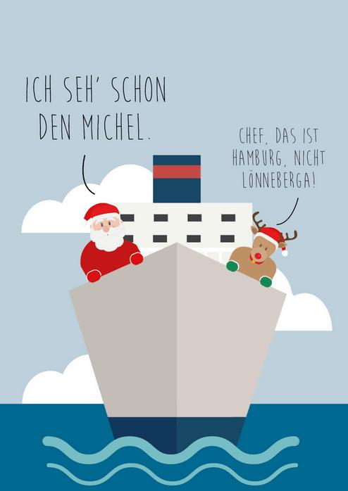 O Tannerbaum Weihnachtskarte Hamburg