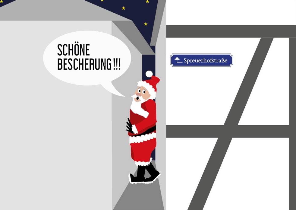 O Tannerbaum Weihnachtskarte Reutlingen