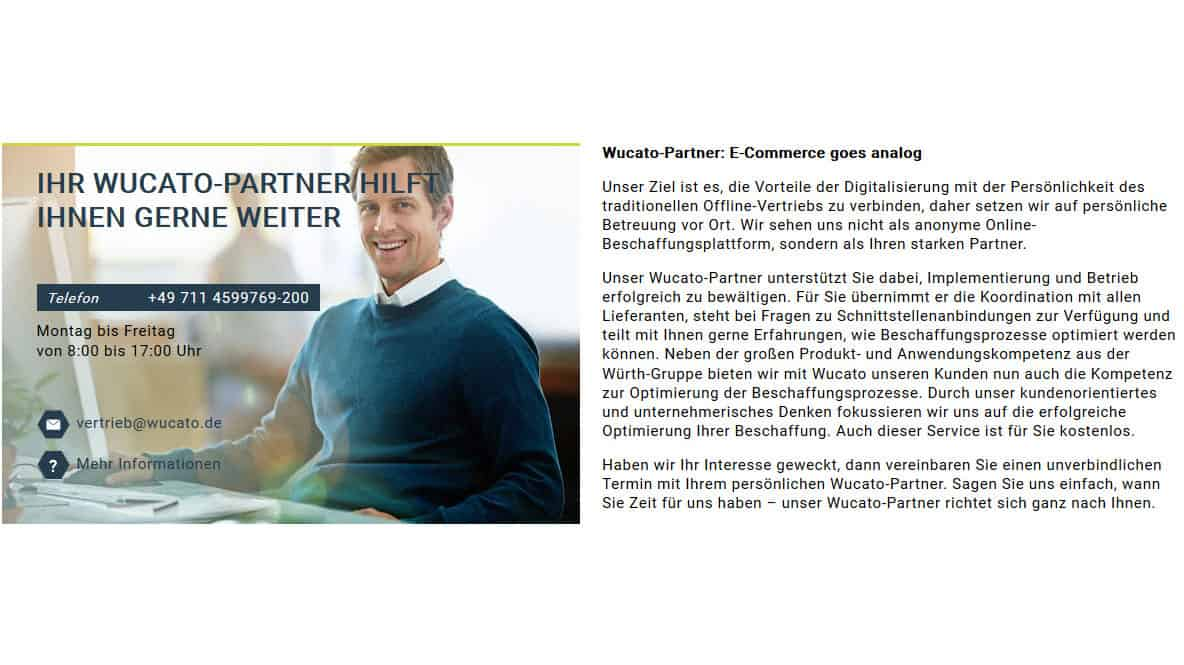 Abbildung B2B-Online-Plattform Wucato
