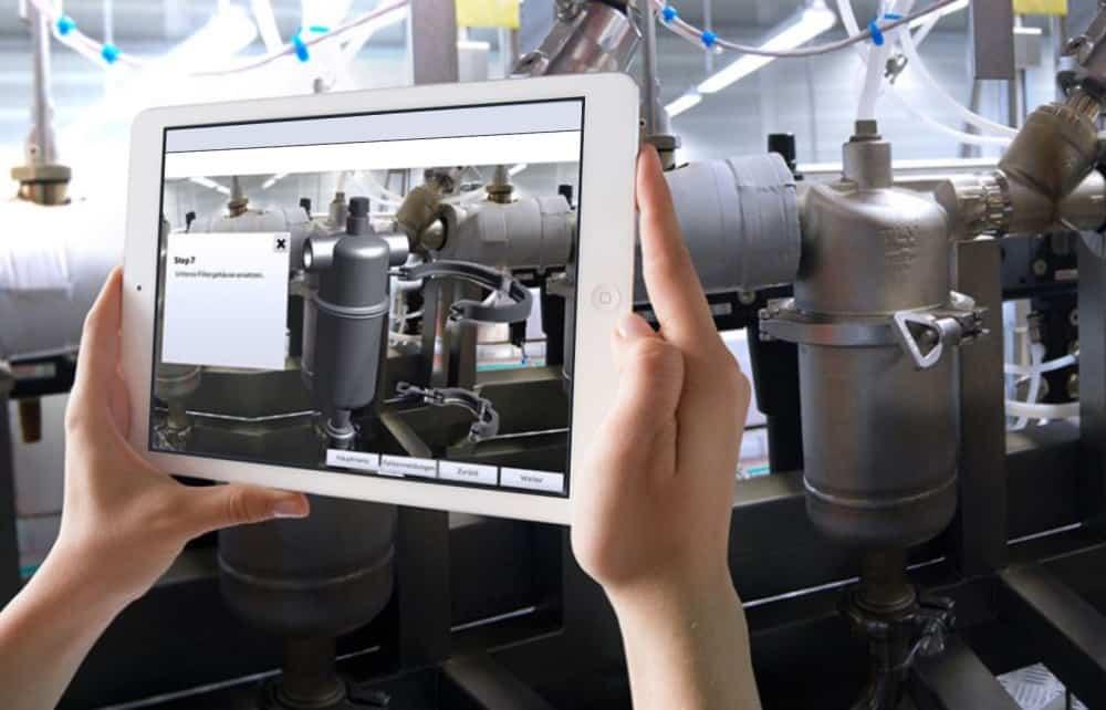 Bild Augmented Reality auf dem Tablet