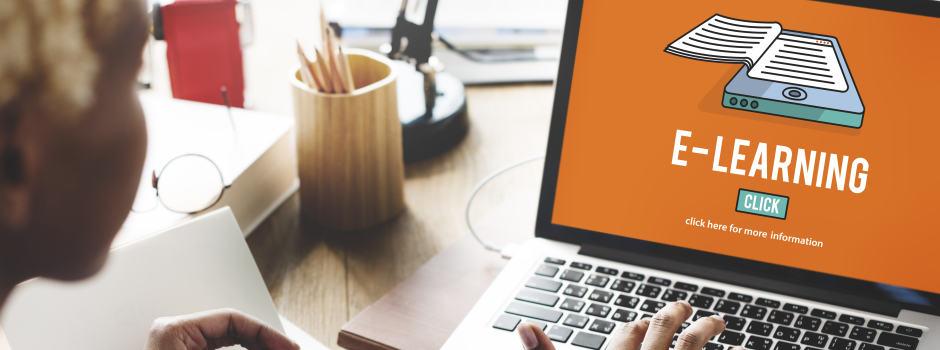 E-Learning auf dem Notebook-Bildschirm