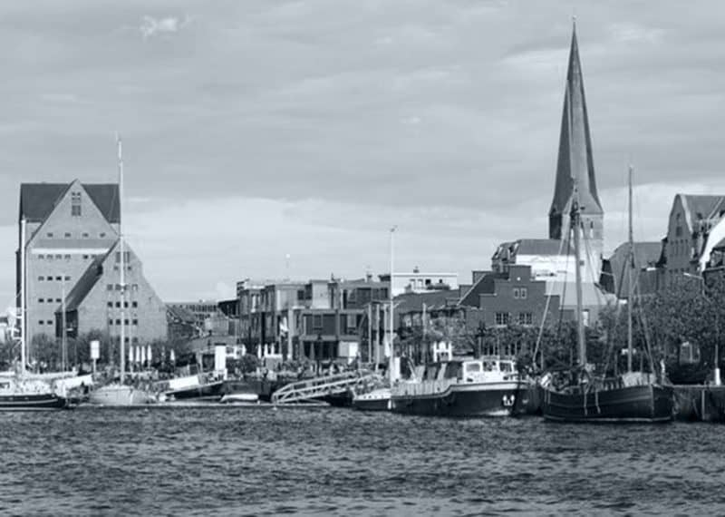 Stadtpanorama von Rostock