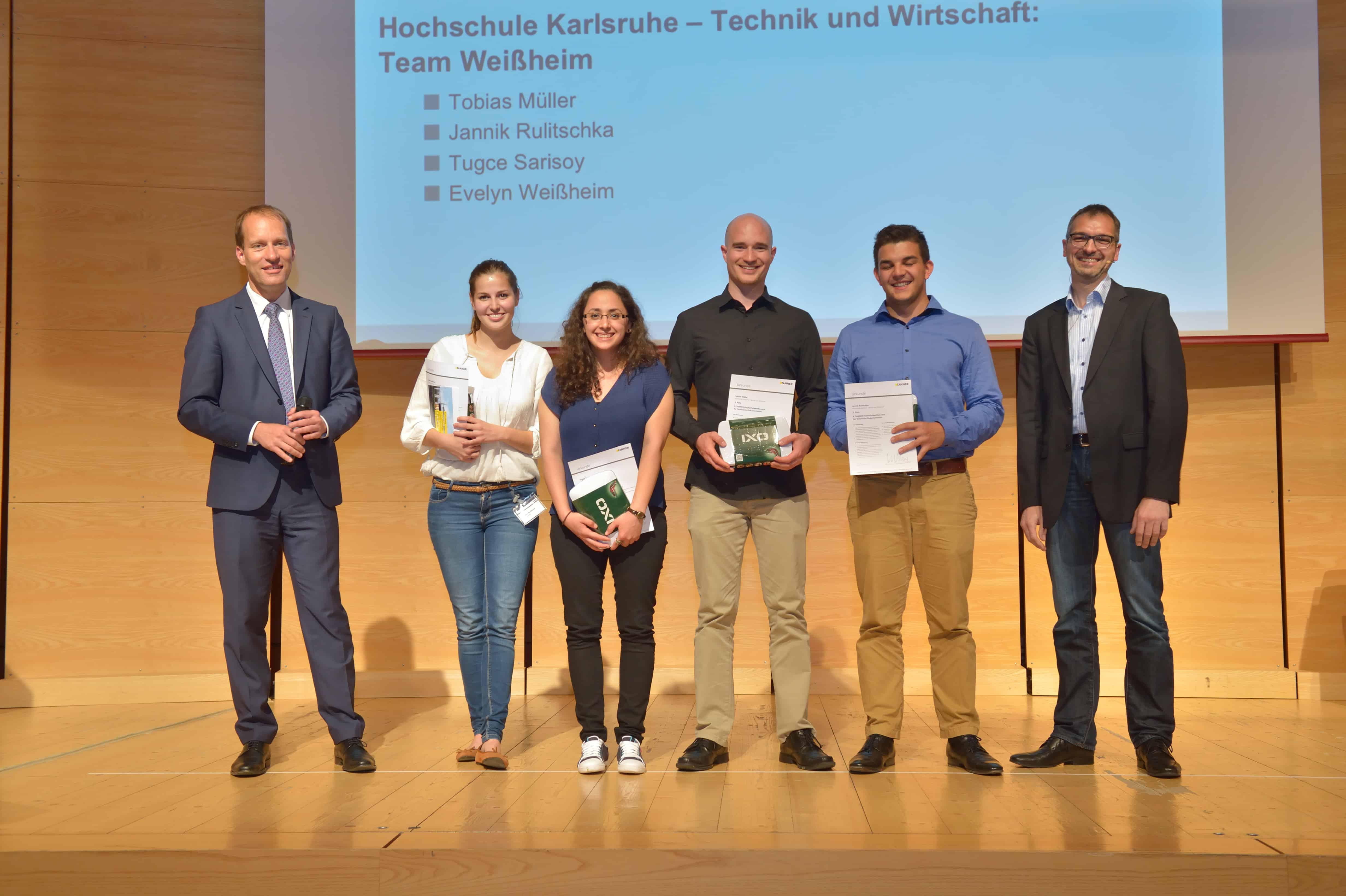 Impressionen von der Preisverleihung des 9. TANNER-Hochschulwettbewerbs
