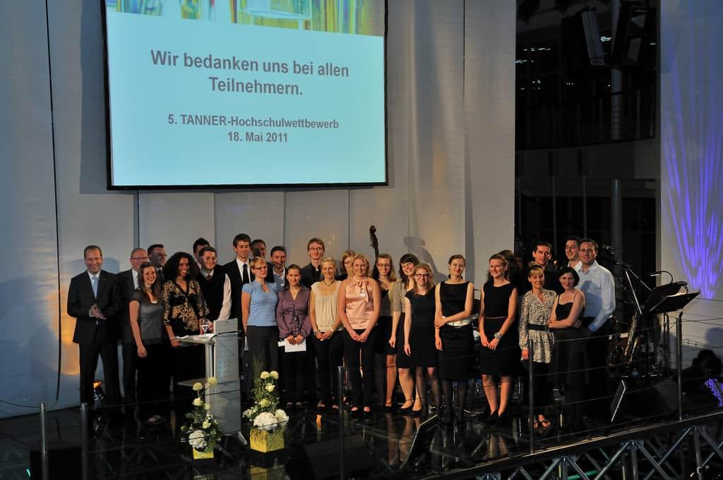 Gruppenbild der Teilnehmenden am 5. TANNER-Hochschulwettbewerb