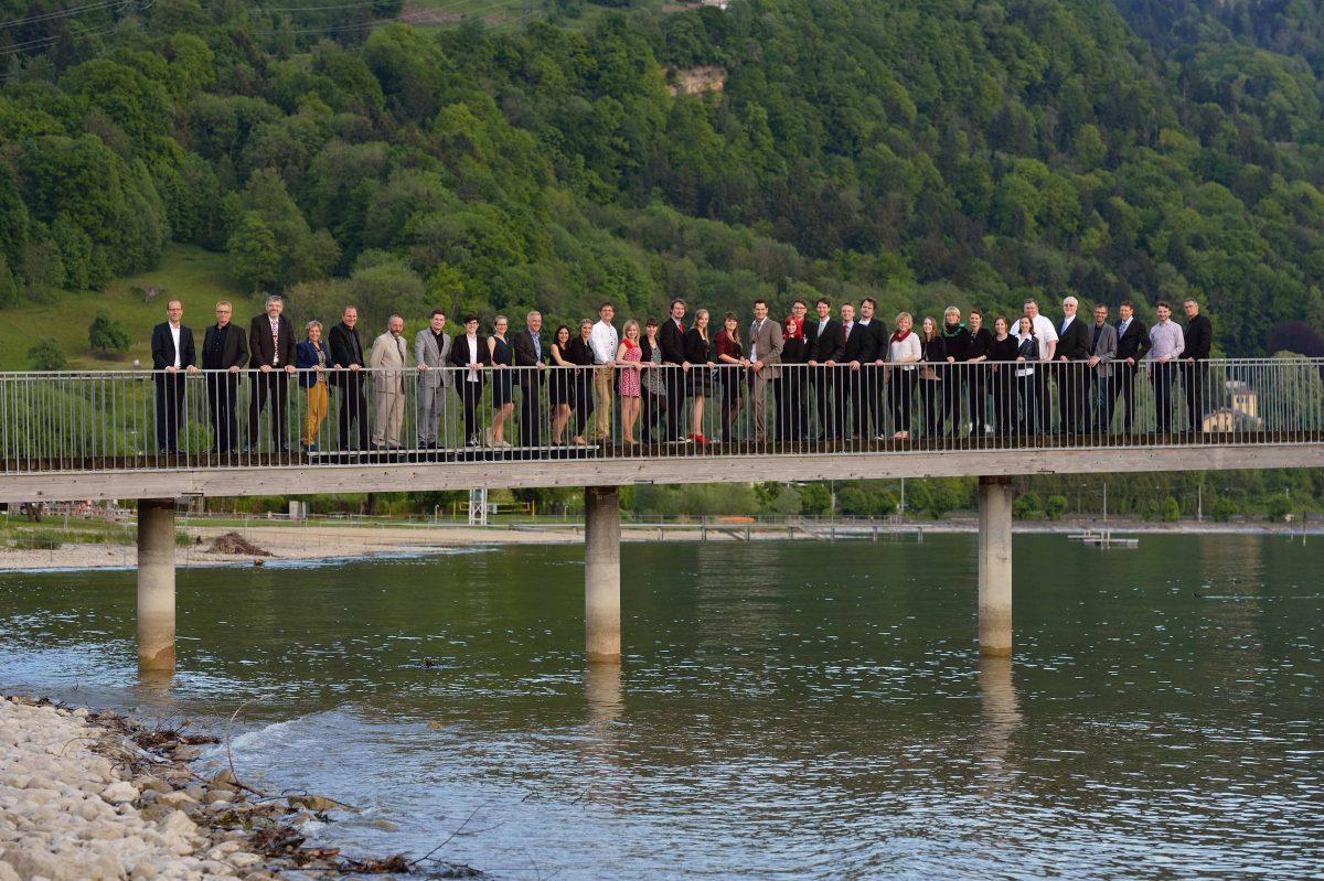 Gruppenfoto der Teilnehmer des 8. TANNER-Hochschulwettbewerbs