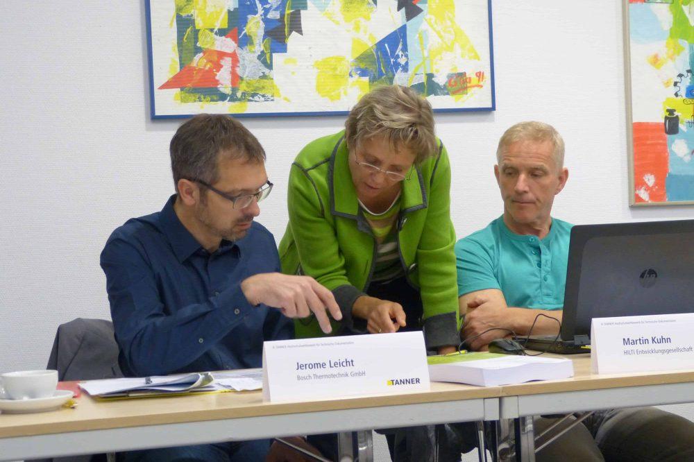 Impressionen von der Jurysitzung des 8. TANNER-Hochschulwettbewerbs