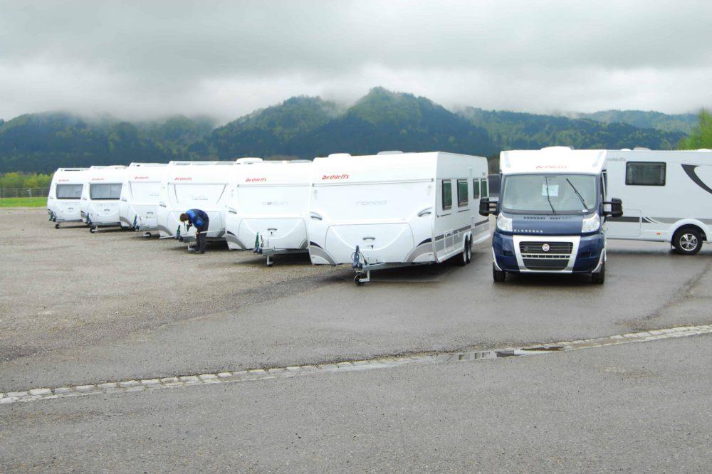 Wohnwagen Besuch bei Dethleffs zum 4. TANNER-Hochschulwettbewerb
