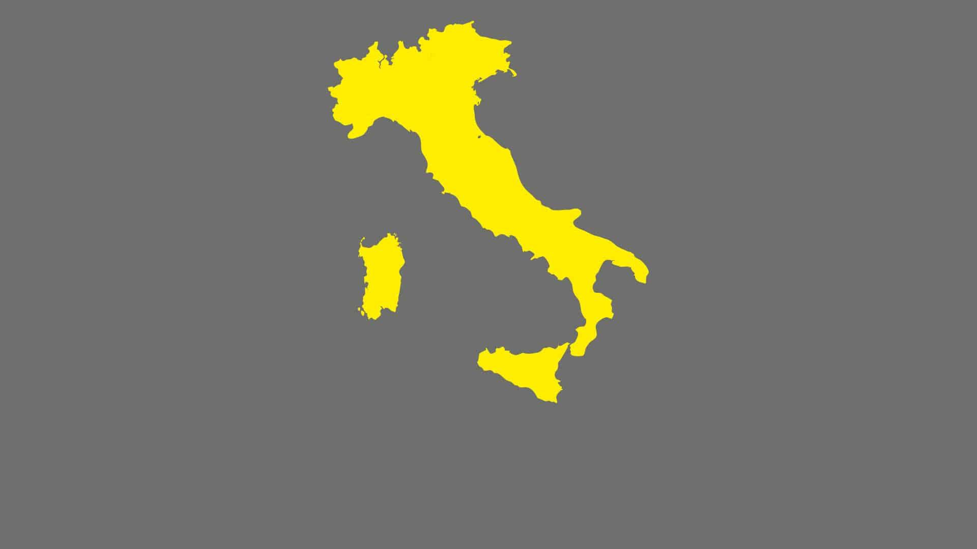 Kartenumriss von Italien