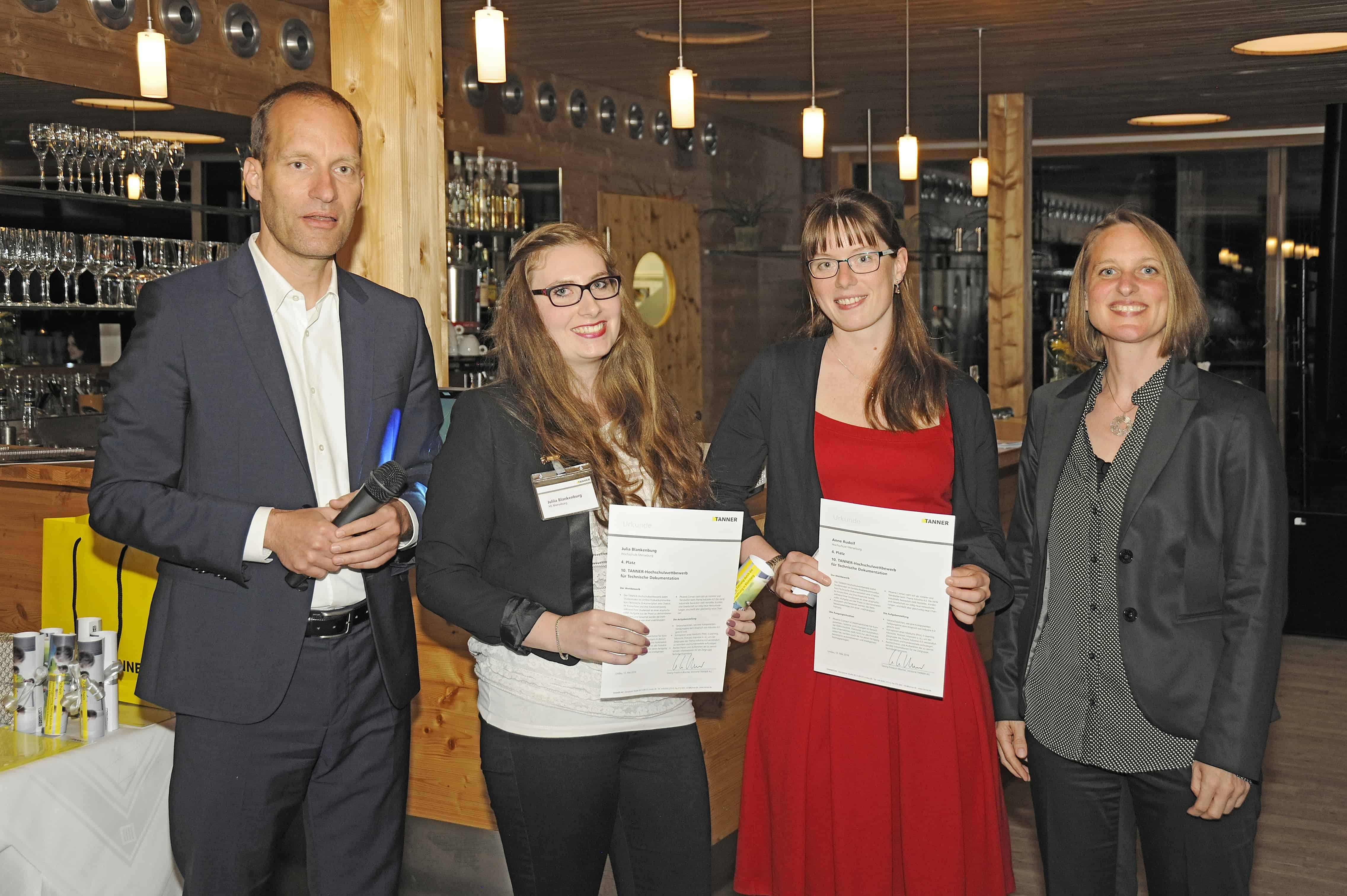 Team Rudolf vom 10. TANNER-Hochschulwettbewerb