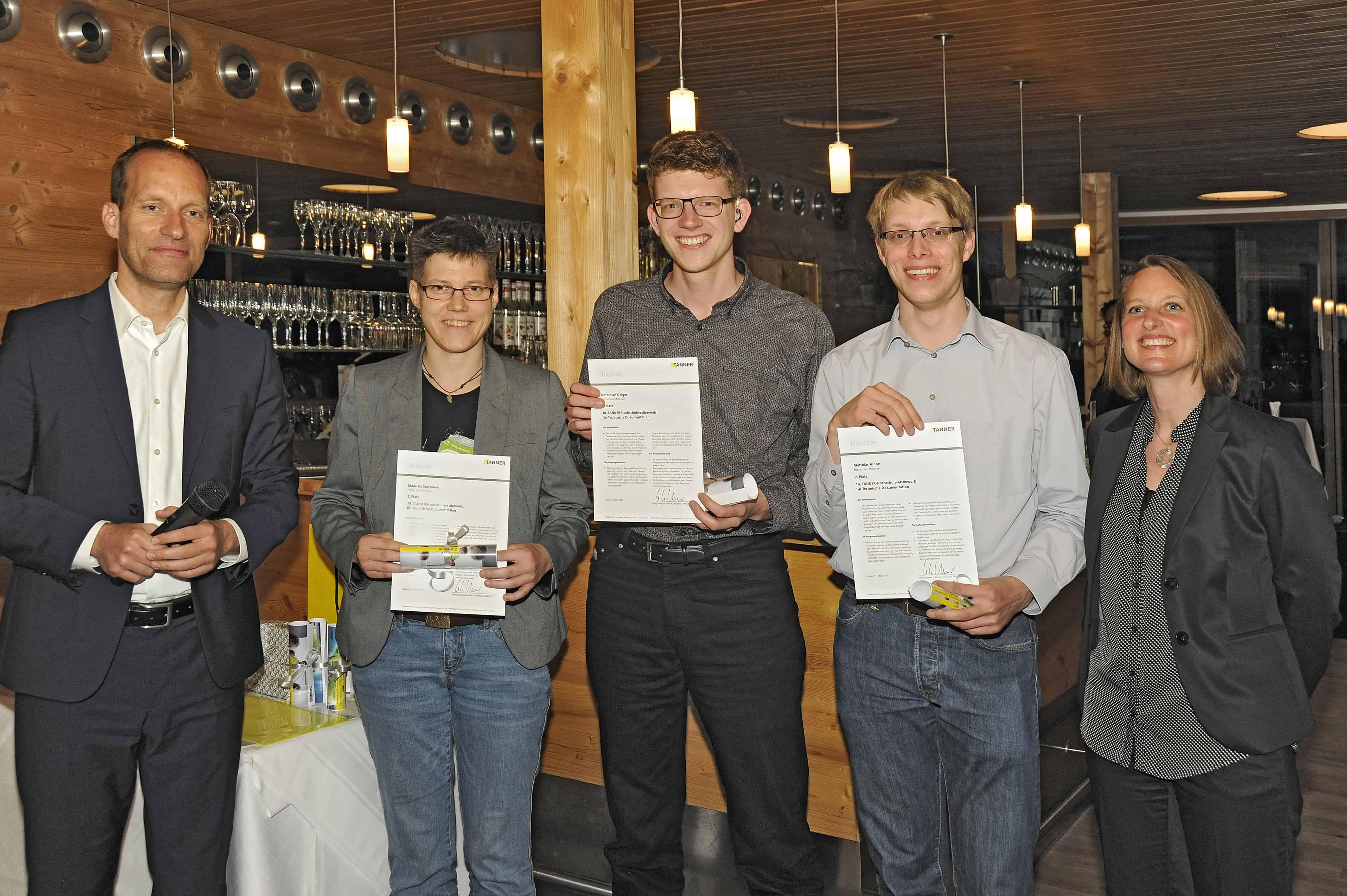 Team Stavenow von 10. TANNER-Hochschulwettbewerb