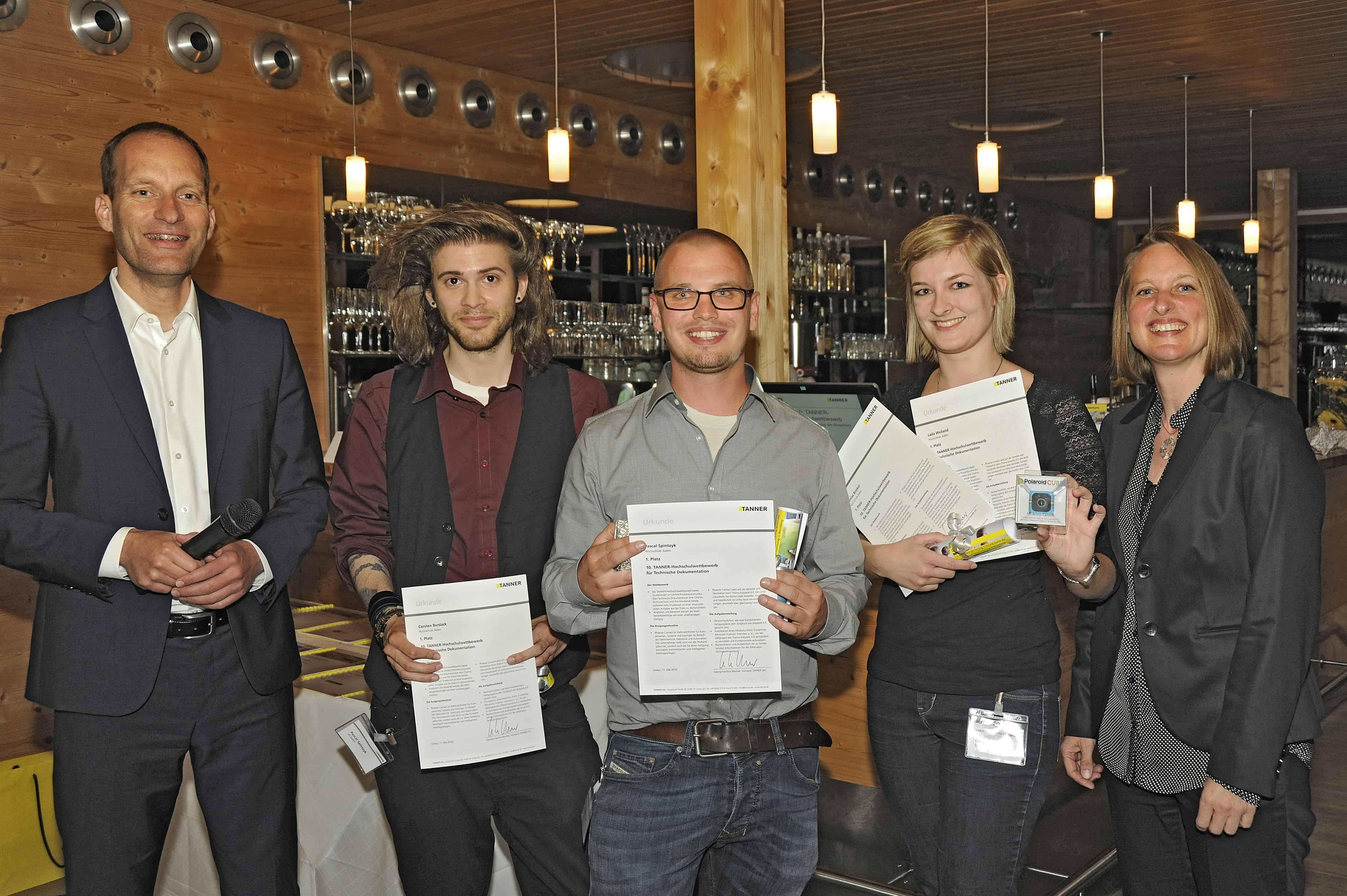 Team Weiland vom 10. TANNER-Hochschulwettbewerb