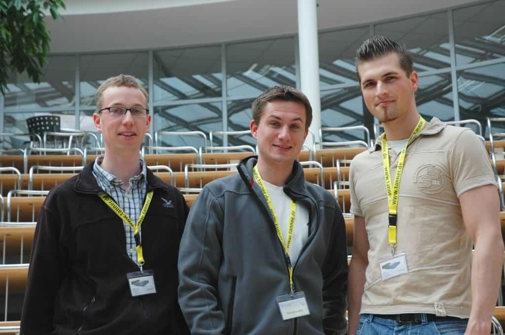 Team 1 der Hochschule Karlsruhe beim 2. TANNER-Hochschulwettbewerb