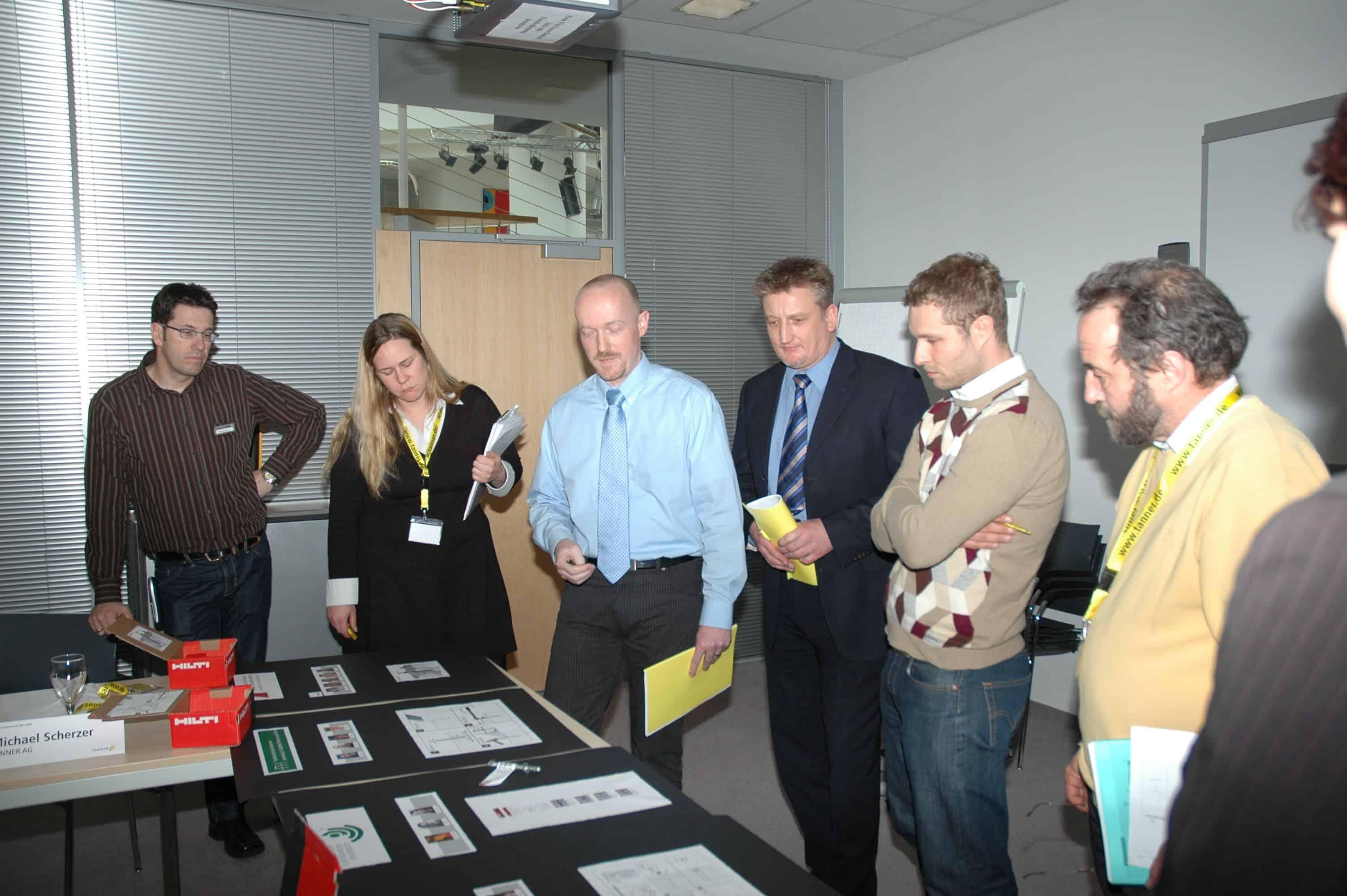 Jurysitzung 2. TANNER-Hochschulwettbewerb 2008