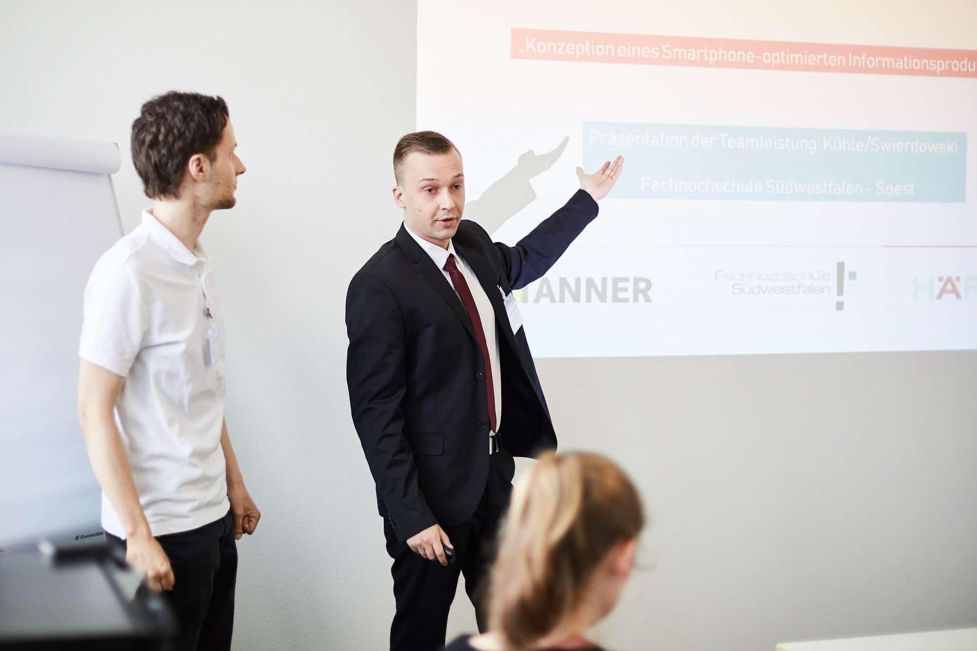Fachhochschule Südwestfalen bei der Jurysitzung des 12. TANNER-Hochschulwettbewerb