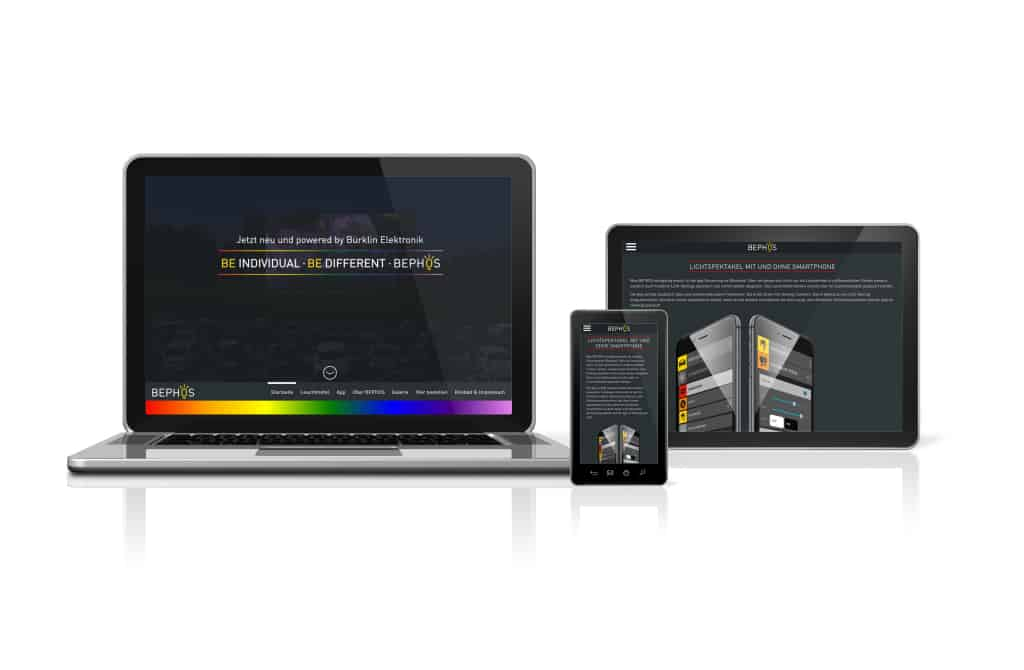 TANNER Kampagne Bephos mit responsive Webdesign