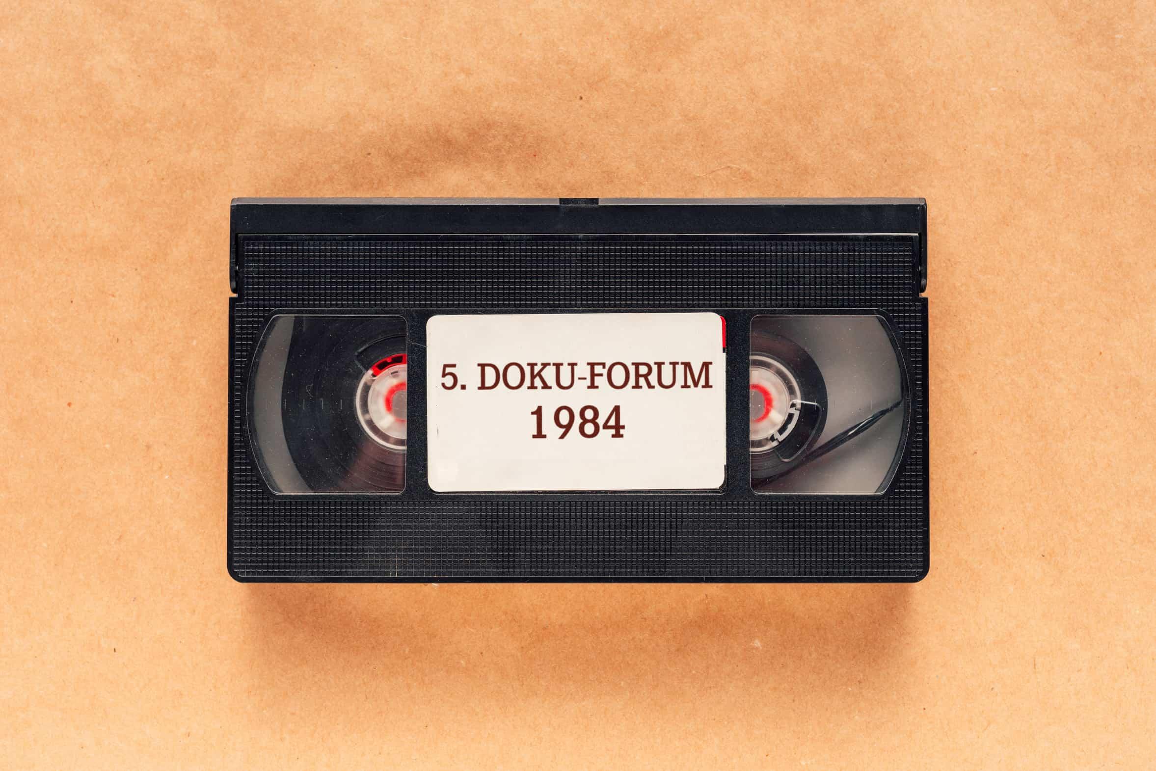 Bild benutzte Videokassette