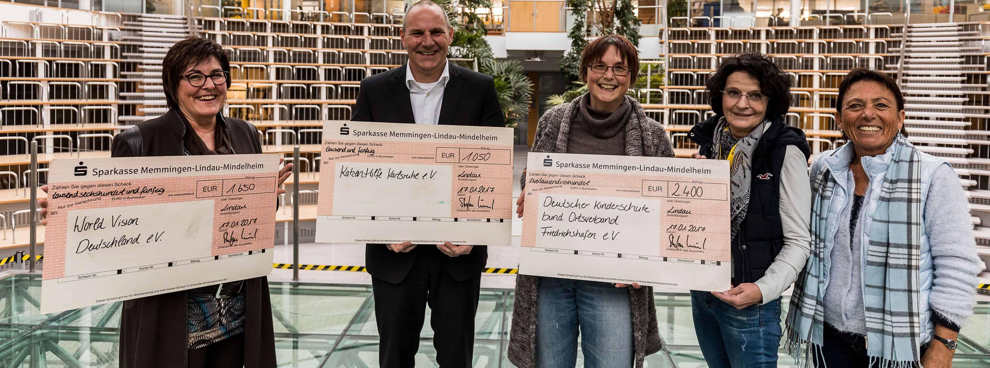 Spendenübergabe 2017 an den Kinderschutzbund Friedrichshafen