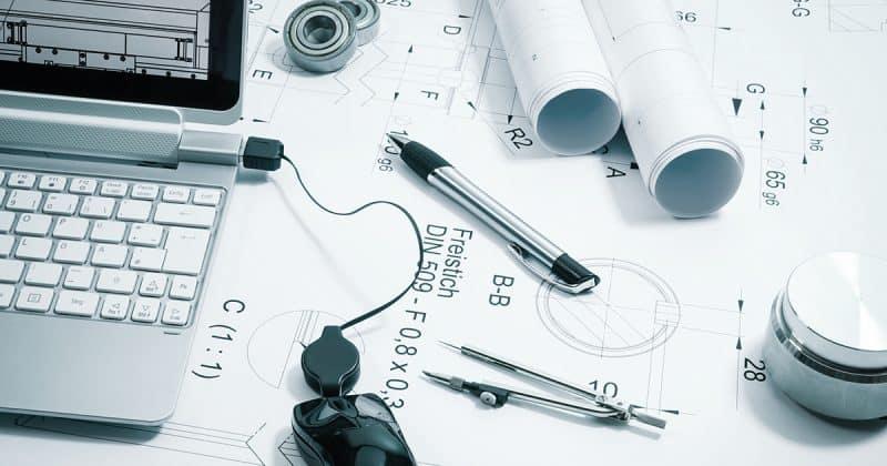 Abbildung Konstruktion, technische Zeichnung
