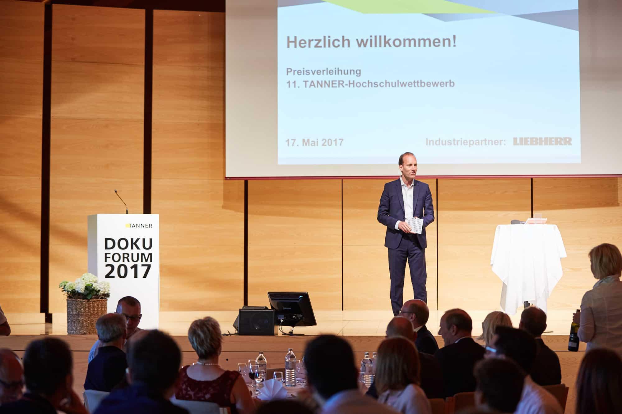 Begrüßungsrede von Georg-Friedrich Blocher beim 11. TANNER-Hochschulwettbewerb