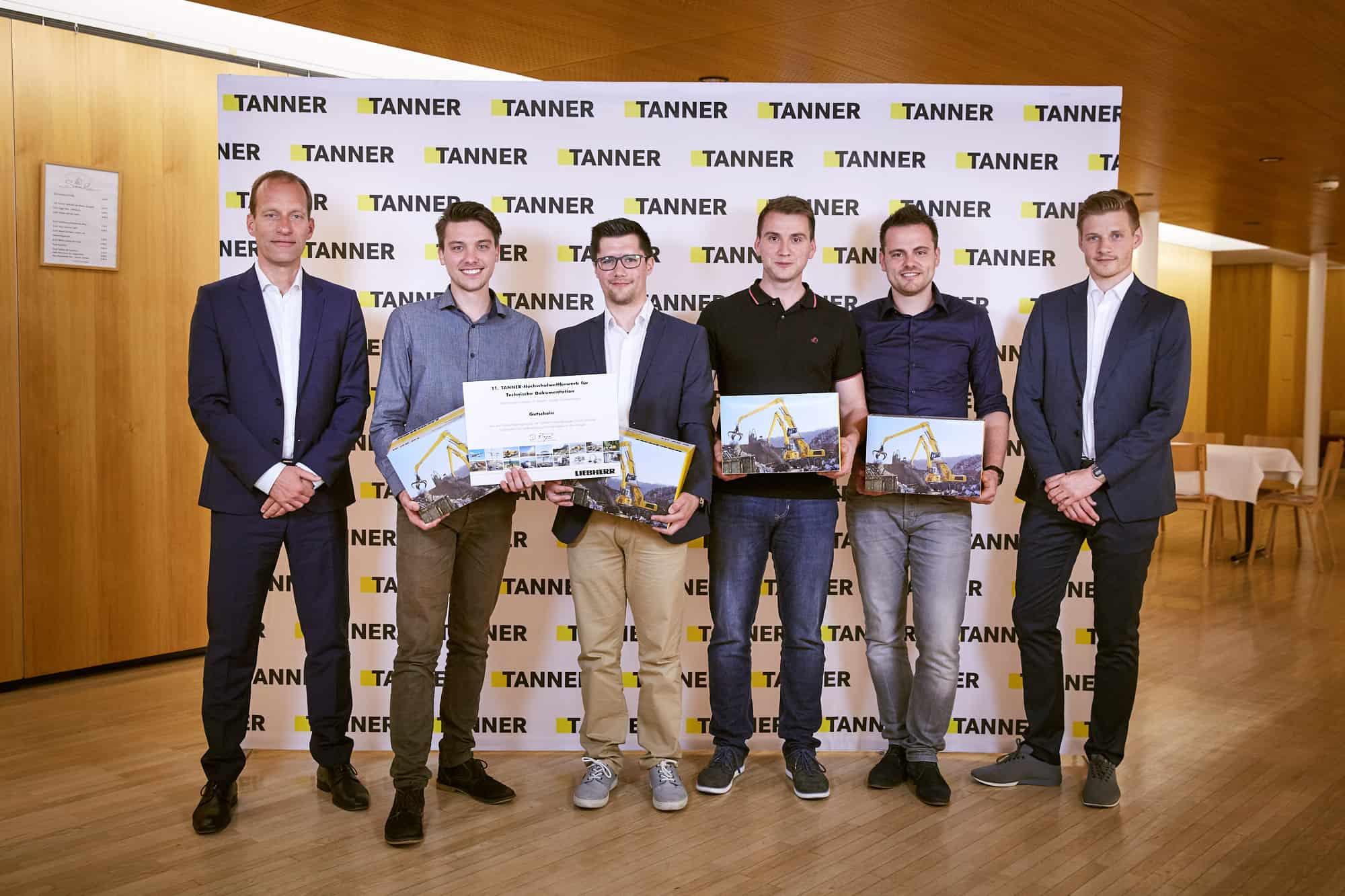 Gruppenbild Team von der Hochschule Aalen beim 11. TANNER-Hochschulwettbewerb