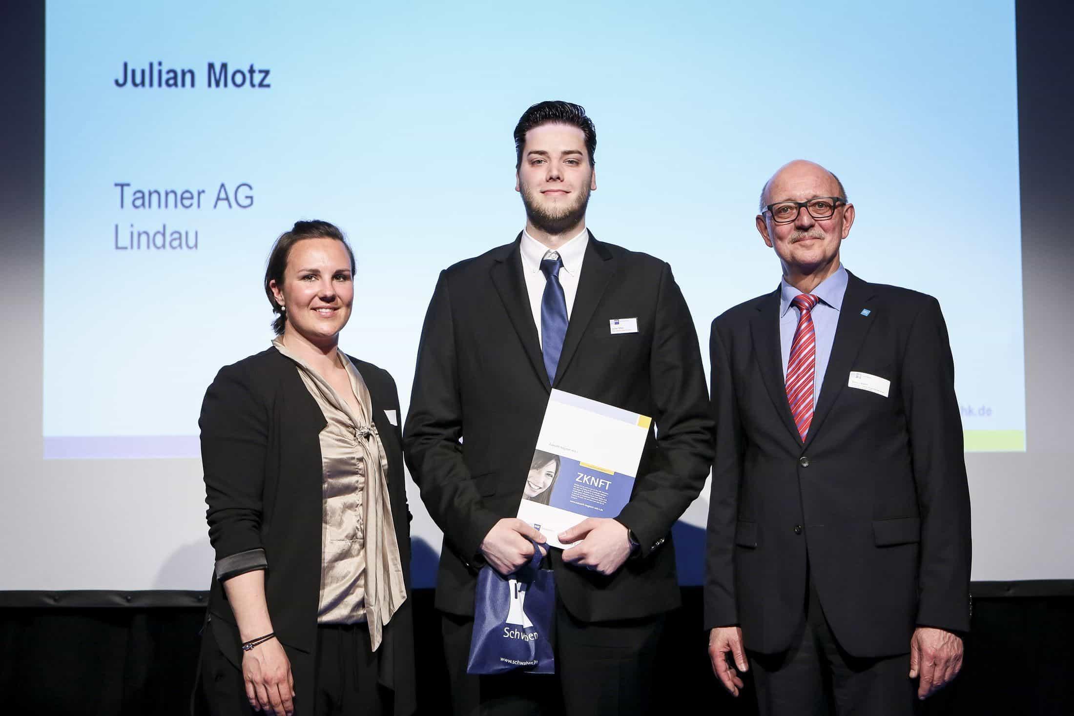 Julian Motz von der TANNER AG ausgezeichnet