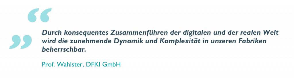 Zitat Prof. Wahlster DFKI GmbH
