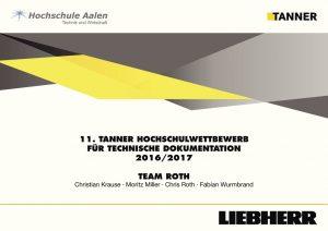 Tanner Hochschulwettbewerb Beitrag von Team Roth HS Aalen