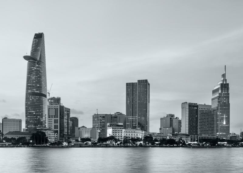 Vietnam Skyline Ho Chi Minh City