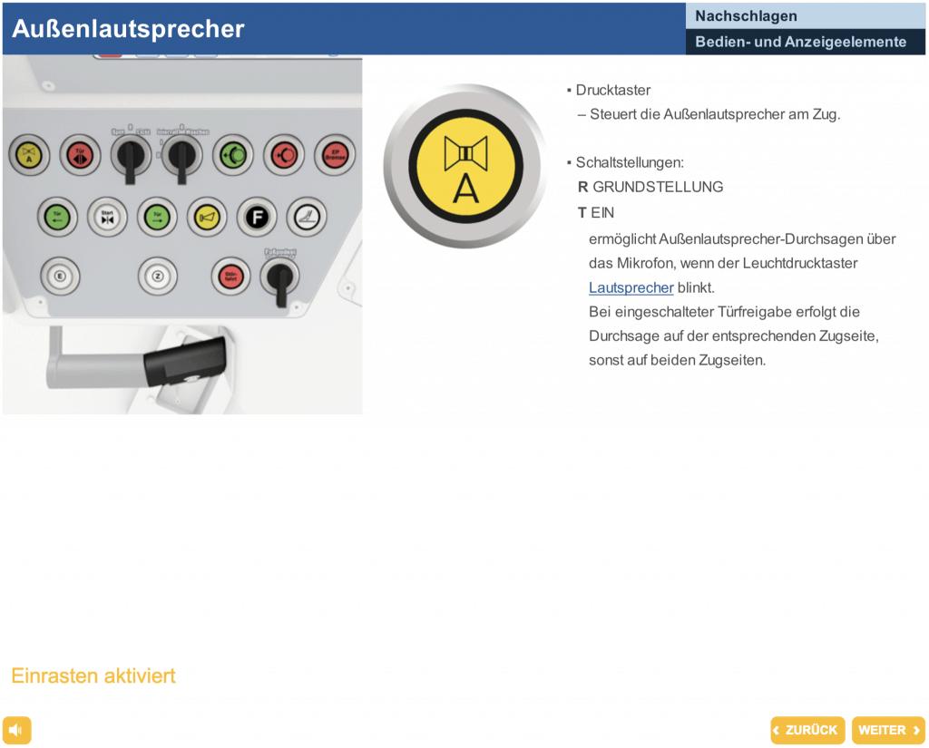 Ein interaktives Cockpit ist mit Articulate Storyline nicht sinnvoll umsetzbar
