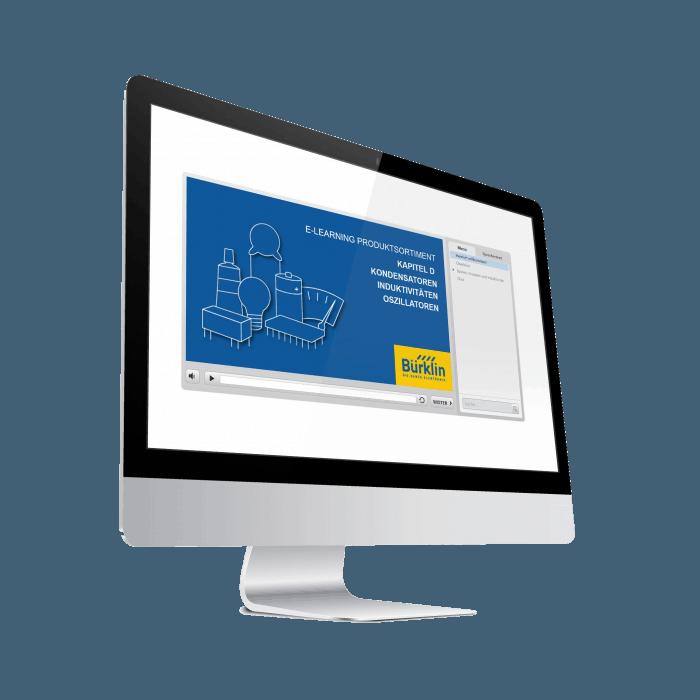 Bildschirm mit E-Learning von Bürklin