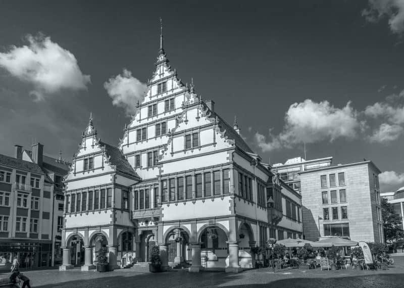 Markplatz Paderborn mit Rathaus