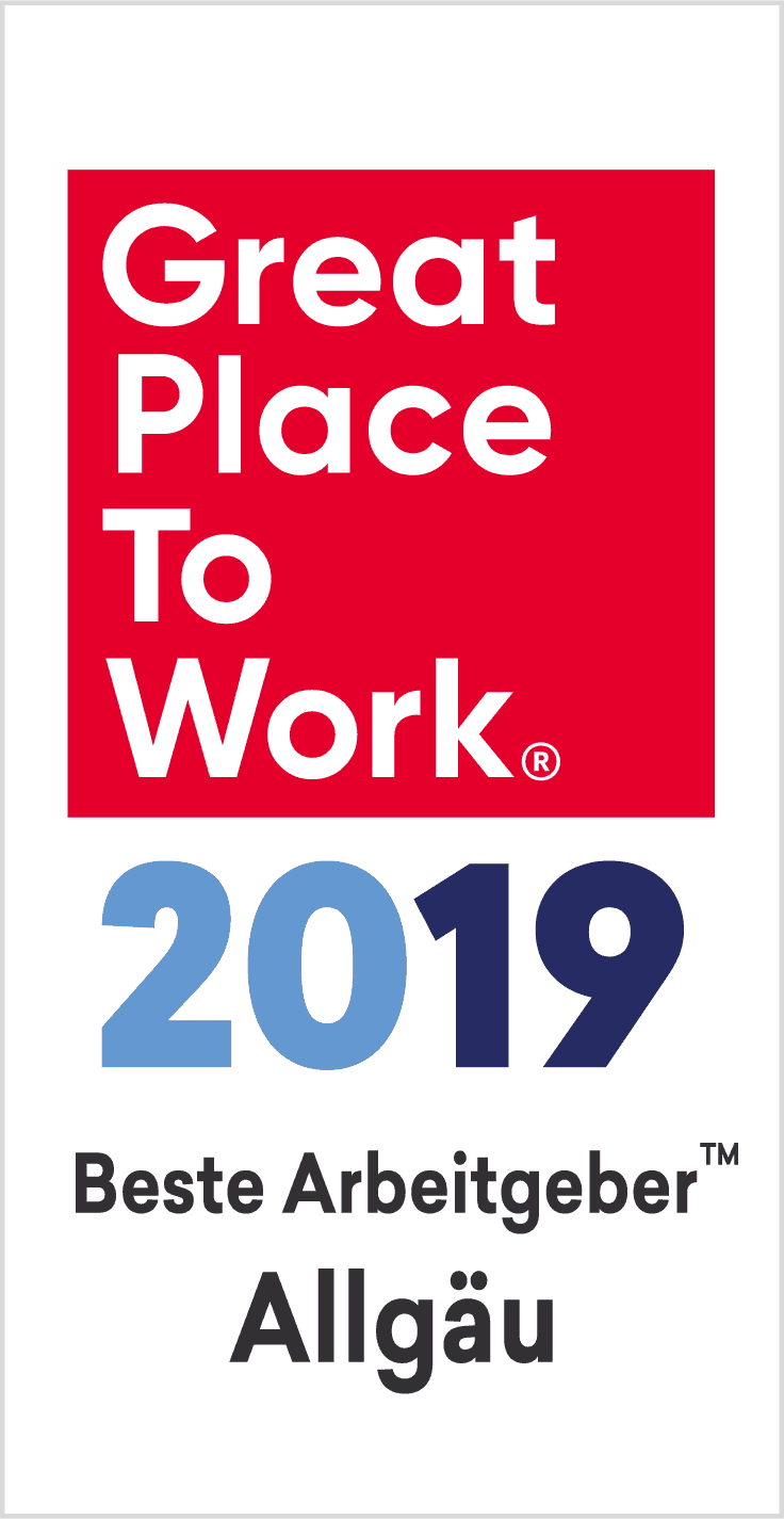 Banner Great Place to Work Allgäu 2019