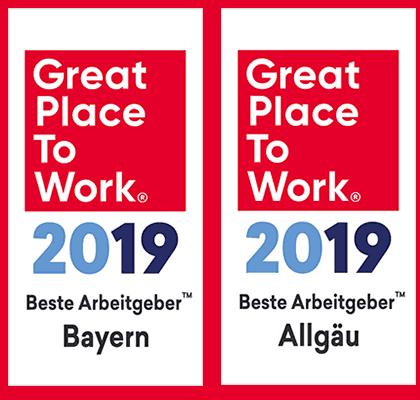 Banner Great Place to Work Bayern und Allgäu