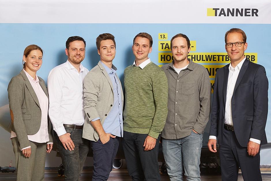 Bild des Gewinner-Team des 13. TANNER-Hochschulwettbewerbs von der Hochschule Aalen