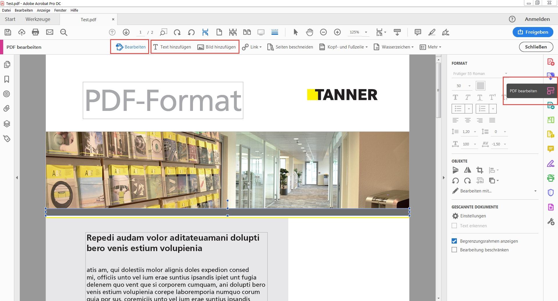 PDF-Dokument bearbeiten Möglichkeiten