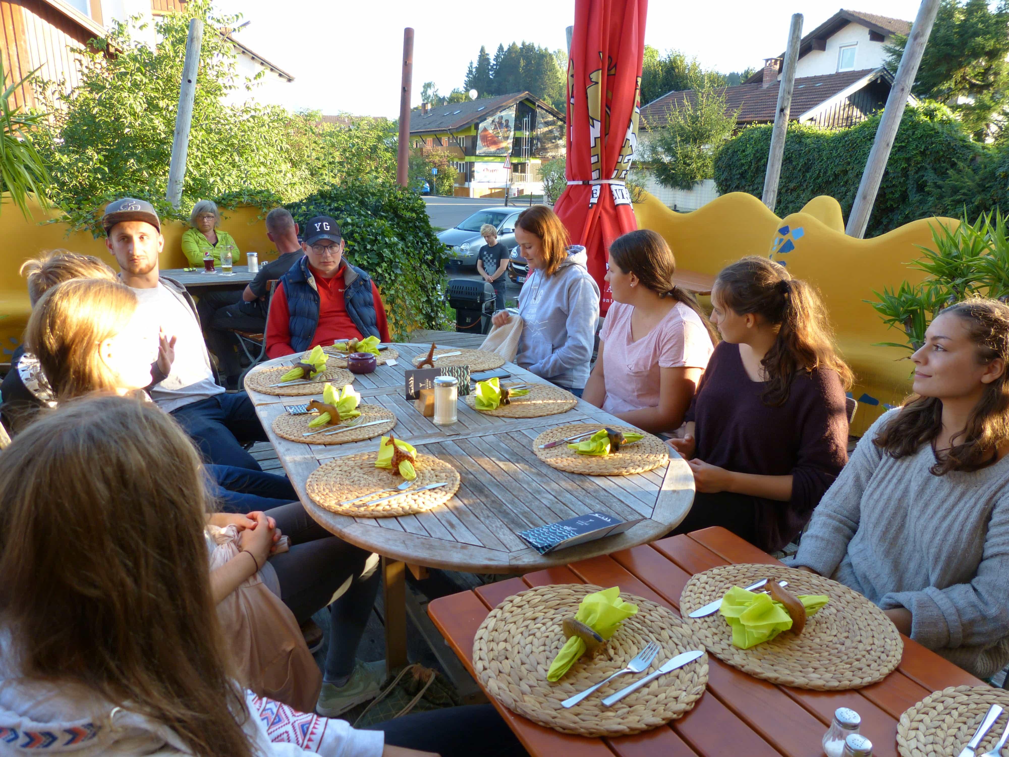 Barbecue und Abschluss des Azubis-Ausflugs 2019