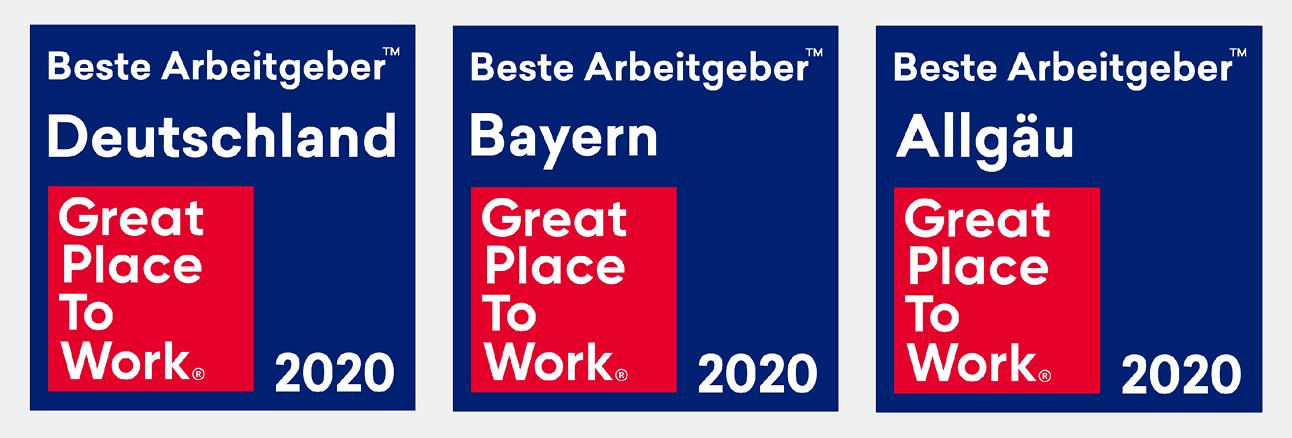 Great Place to Work Auszeichnungen 2020