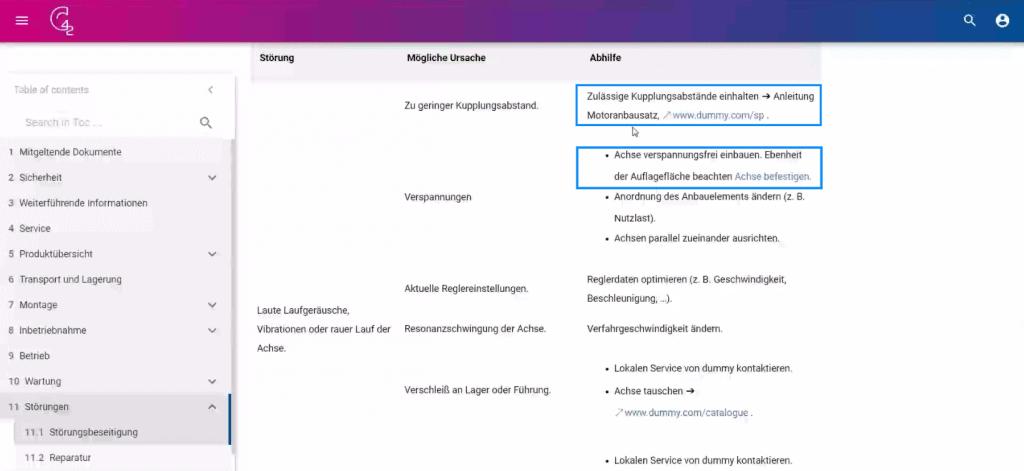 Screenshot Fehlersuche C42