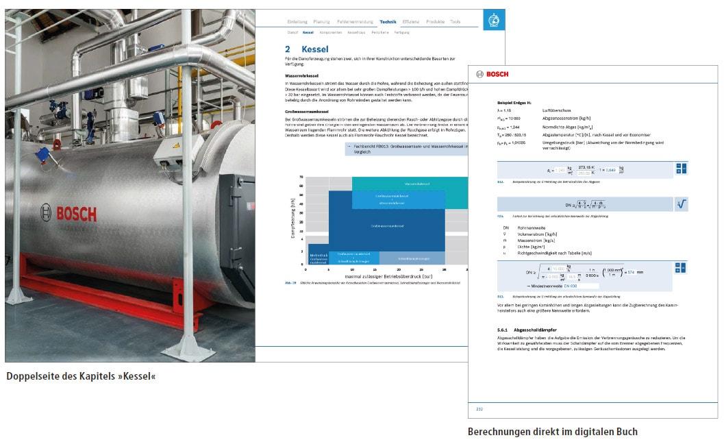 Interaktiven Planungshandbuch für Bosch Industriekessel